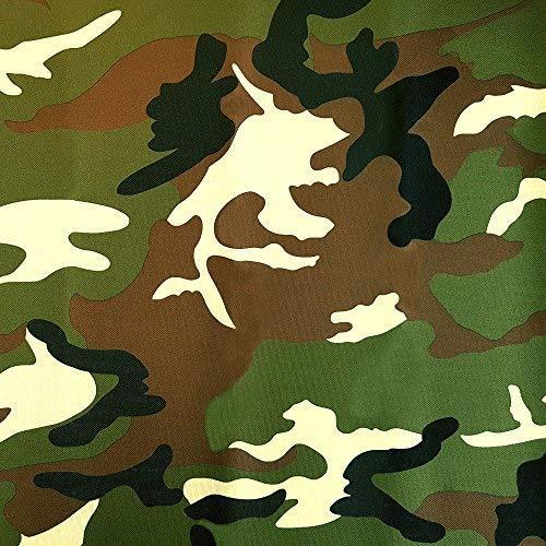NOVELY® Oxford 600D | fest gewebt | 1 lfm | Polyester Stoff | wasserdicht | Outdoor | PVC | Meterware | extrem reißfest | robust (D1 Camouflage Grün Braun) (Möbelstoff Camouflage)