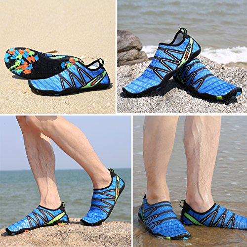 Aqua Water Beach Yoga Blu On Voovix Ciabatte Acqua Spiaggia Uomo Traspiranti Surf da Scarpe Shoes Swim Leggere per da Donna Slip cHTSq7O
