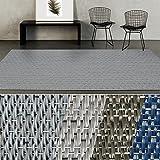 casa pura Indoor- & Outdoor-Teppich Geona | Bodenbelag für Flur, Küche, Bad, Terrasse, Balkon, Garten | kunstvoll Gewebt mit Schimmer Optik | Viele Größen (60x150 cm)