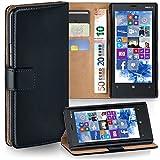 Nokia Lumia 920 Hülle Schwarz mit Kartenfach [OneFlow Wallet Cover] Handytasche Flip-Case...