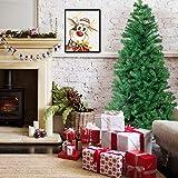 Künstlicher Weihnachtsbaum hochwertiger Tannenbaum Christbaum, mit Metallständer, Material PVC, Innen und Außenbereich (Grün, 180cm)