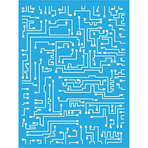 Americana Decor Kurzschluss-Schablone, blau, 6X 20,3cm -