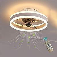 Plafonnier LED pour ventilateur de chambre à coucher avec télécommande réversible 6 vitesses Ventilateurs de plafond…