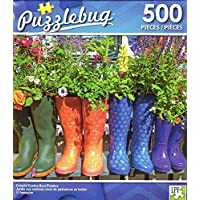 Puzzlebug Colorful Garden Boot Planters - 500 Piece Jigsaw Puzzle p 004