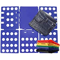 CHICHENG T Shirt Clothes Folder T-Shirt Folding Board Flip Fold Laundry Organizer Easy and Fast for Kid and Adult to…