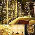 200 LED Lichterkette mit EU Stecker, Tomshine 23M Lichterkette für Innen und Außen, IP44 Wasserdicht, 8 Modi Dimmbar Strombetrieben, Lichterkette Warmweiß Hochzeit Deko für Zimmer, Garten, Party