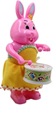 JINKRYMEN Rabbit Drummer Toy with Drumming and Dancing Action for Kids
