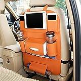 Autofier Tan Color Car Organizer Storage Bag Back Seat Box Organizer Holder Cover