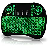 OEM Computer Keyboards FMKRFBLL1-US1 US Version Backlit Wireless Mini Keyboard USB With Touchpad For Raspberry Pi 3, Black