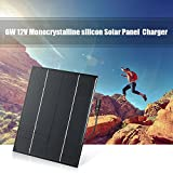 Decdeal 6W 12V Monocrystalline Silicon Solar Panel Portable Power Bank Charger Solar Cell with DC Female Port