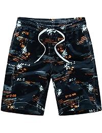 Quceyu Short de Bain Homme Bermuda Homme Séchage Rapide Shorts de Sport  Plage Grande Taille 320099caedb