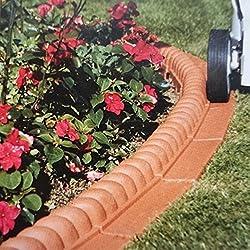 14 pieces - Bordure pour jardin, allée, chemin - 2,2m - Forme de corde - terracotta