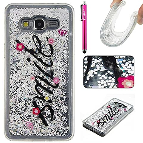 Galaxy G530 Case, Galaxy Grand Prime Case, Firefish Luxury Liquid Thin [SOFT-FLEX] Gel TPU Protective Skin Scratch-Proof Protective Case for Samsung Galaxy Grand Prime G530 -Smile