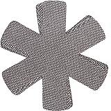 Chefarone Pfannenschoner Filz - 5er Set - 38 cm - XL Pfannenschutz - Stapelschutz für perfekten Pfannen Schutz (grau) -