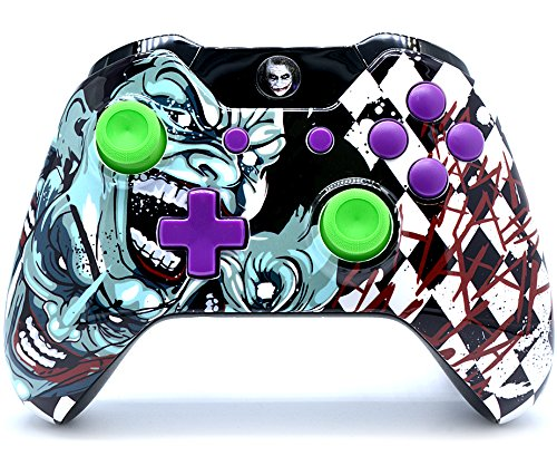 Clown Xbox One Custom un-modded Controller Exklusives Design mit 3,5Klinke (Modded Xbox Billig Controller)