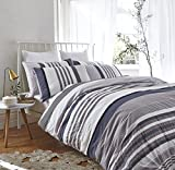 Ropa de cama de Bianca, algodón Seersucker, a rallas, algodón, multicolor, Super King Duvet Set