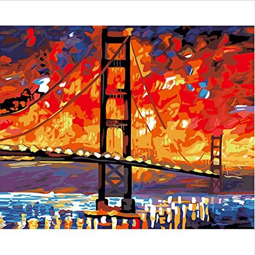 CYKEJISD Puzzle 1000 Teile 3D Puzzle Brücke Der Hoffnung DIY Abstrakte Moderne Wandkunst Für Inneneinrichtungen 75X50Cm (Hoffnung Brücke Der)