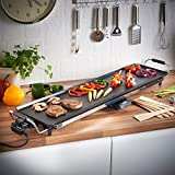 VonShef Electric XXL Teppanyaki Style Barbecue Table Grill Griddle with Adjustable Temperature Control 2000 Watts,
