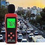 Exing Schallpegelmesser Schallpegelmessgerät, TA8153 Noise Dezibel Meter 30~130 dB Digitales Schallpegelmessgerät mit LCD-Display