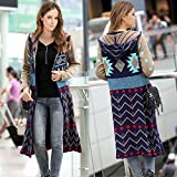 New and Imported Buildtough Long Knitted Cardigan Loose Casual Hooded Geometric Jacket Coat for girls