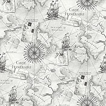 Crown luxe voyager map glitter wallpaper parchment and gold m1133 new arthouse navigator vip cartography luxury vintage nautical map wallpaper silver grey 622004 gumiabroncs Choice Image