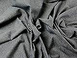 Seide & Baumwolle Tweed Denim Look Kleid Stoff, blau,