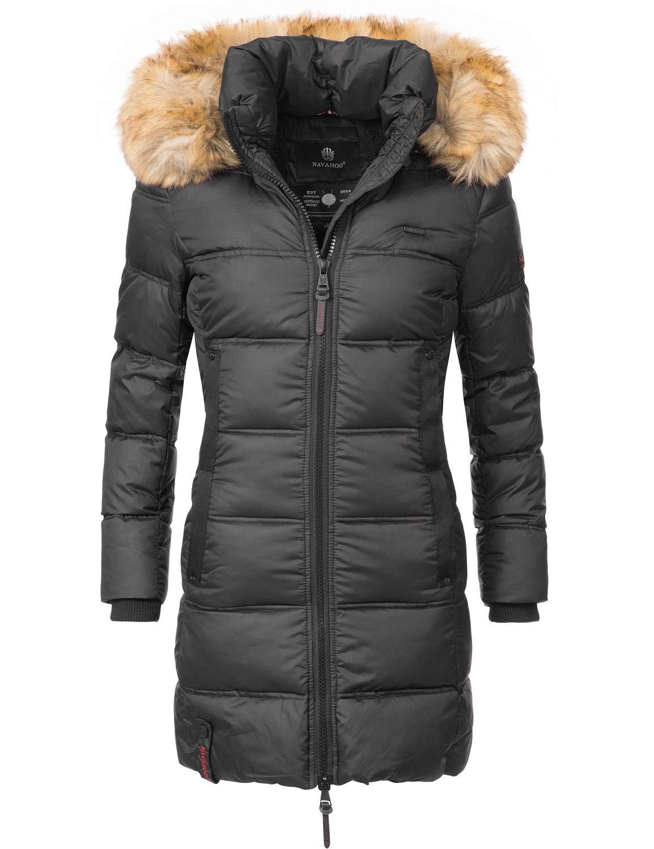 Navahoo Damen Mantel Steppmantel Wintermantel Quitscheente (vegan hergestellt) 8 Farben XS-XXL