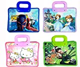 #2: MSGH Shopping Tote Bag For Kids Birthday Return Gift Party Favor (Pack of 12) - Assorted Colour + (12 PCS Thank You Card Free) (SMALL SIZE)
