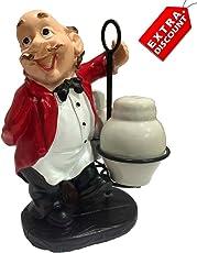 EZ Life Whacky Waiter Resin - Salt & Pepper Shakers - Red Coat - Extra Discount Offer