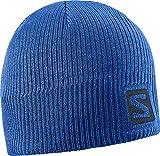 Salomon, Bonnet Unisexe avec Logo, Pour les Athlètes d'Hiver, Logo Beanie, Bleu Royal, L39045400