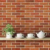 #10: PRINTELLIGENT 'Bricks Grey Brown Mix' Peel and Stick Wallpaper (Self Adhesive, 40 cm x 1016 cm)
