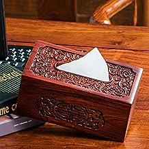 COLLECTOR Soggiorno creativo mogano tessuto casella casa semplice tavolino libro botteghino tovagliolo ristorante Casa tubi - Libro Blu Tovagliolo