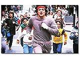 QuadriXXL Stampe d'arte di qualità «Run Rocky Run» 80x50cm - disponibile in 6 diverse misure. Pronta per essere appesa. Grandi quadri su tela a basso costo.