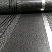 Belgravia Moda Gianni Stripe Pattern Glitter Metallic Textured Wallpaper (Black 1914) by Belgravia