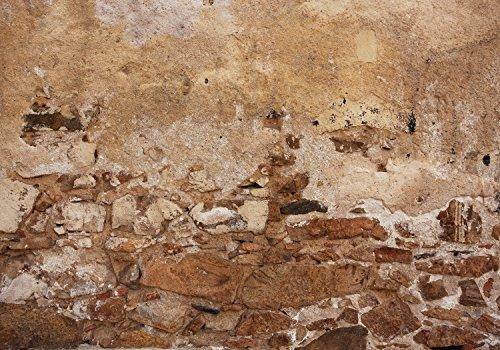 wandmotiv24 Fototapete Alte Mauer, aus Stein und Stuck XL 350 x 245 cm - 7 Teile Fototapeten, Wandbild, Motivtapeten, Vlies-Tapeten Vintage, Grunge, Wand M1051