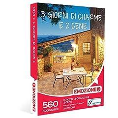 Idea Regalo - Emozione3 - Cofanetto Regalo - 3 GIORNI DI CHARME E 2 CENE - 560 soggiorni ricchi di sapore in accoglienti agriturismi e hotel 3 stelle