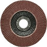 Lot de 10disques de ponçage à lamelles Ø 125mm Grain 60Marron