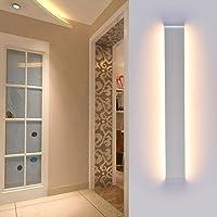 Ralbay 24W Appliques Murales Interieur, Blanc Lampe Murale Super Lumineux 3120LM Blanc Chaud 2700~3200K Moderne Applique…