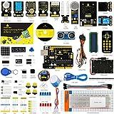 KEYESTUDIO Starter Kit für Arduino UNO R3 Ultimate Starter Kit mit Tutorial, UNO R3 Mikrocontroller, Stepper Motor und Servomotor Kompatible für Arduino UNO R3 Kit