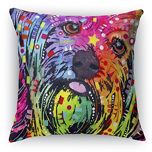 46 x 46 cm Faux Suede Pillow and Pillow Case Dean Russo Yorkie