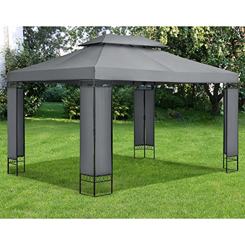 pavillon gartenzelt capri 3 x 4 m in anthrazit mwd. Black Bedroom Furniture Sets. Home Design Ideas