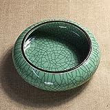 Cenicero de ceramica,Antiguo Grieta diseño Multiusos Cenicero Cáscara de fruta Compartimiento de basura de-A