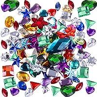 140 Piezas de Gemas Grandes Planas Diamantes de Imitación de Acrílico Decoración para Dispersiones de Mesa, Rellenos de Jarrones, Eventos, Bodas, Favor de Decoración de Cumpleaños