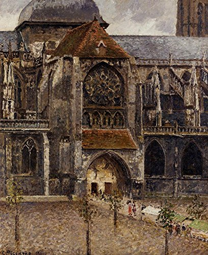 Das Museum Outlet-Portal aus der Abbey Kirche von Saint-Laurent, 1901-Leinwanddruck Online kaufen (152,4x 203,2cm)