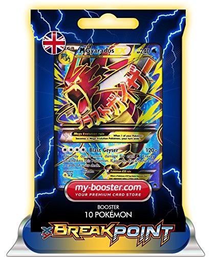 garados) FULL ART 115/122 240HP XY09 BREAK POINT (Turbofieber) - Booster mit 10 Englisch Karten Pokemon my-booster ()