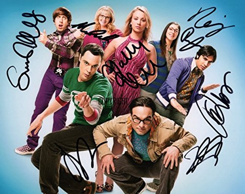 Limited Edition The Big Bang Theory Cast Signiert Foto Autogramm signiertsigniertes