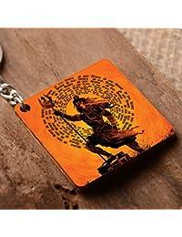 Crazyink Buy 1 Get 1 Free (Free One Is Random Design ) Premium Stylish Printed Designer Keychain   Shiva MANTRA...