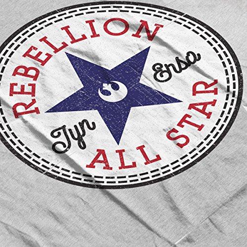 Star Wars Rogue One Rebellion Jyn Converse Logo Men's T-Shirt Heather Grey