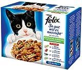 Felix So gut wie es aussieht Fleisch & Fisch Mix mit Gemüse 12x100g Katzenfutter von Purina