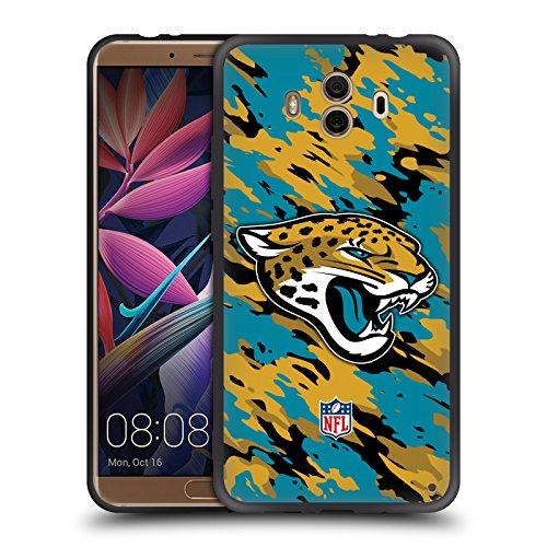 Offizielle NFL Camou Jacksonville Jaguars Logo Skinny Fit Hybrid Glasiert Hülle für Huawei Mate 10 (Jacksonville Jaguars-platte)